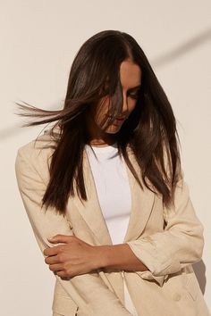 Blow them away with shiny, smooth strands. Coarse Hair, Smooth Hair, Flat Iron, Hair Inspo, Straight Hairstyles, Bell Sleeve Top, Strands, Straightener, Hair Styles