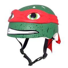 Teenage Mutant Ninja Turtle Youth Raphael Bike Helmet Ride On Red Outdoor Hat  #TeenageMutantNinjaTurtles