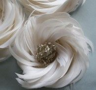 how to make feather flowers |  Arabella Rose Tutorial