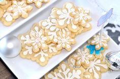 Pretty Decorated snow flake cookies- Christmas approved!