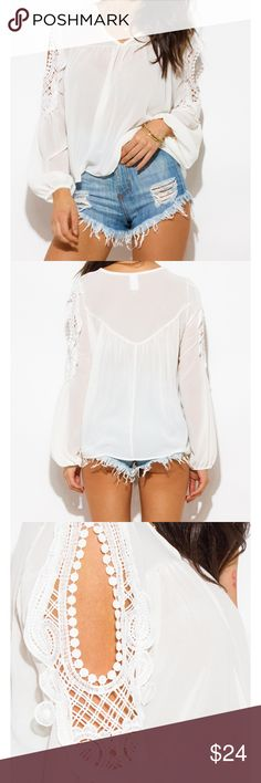 Summer Chiffon, Lightweight and Cool Top Summer Chiffon, Lightweight and Cool Top.  Asymmetrical hem that is longer in back with gorgeous sleeve design. Tops Blouses