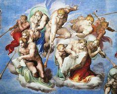 Giudizio universale - Dettaglio con gli Angeli dell'Apocalisse di Giovanni