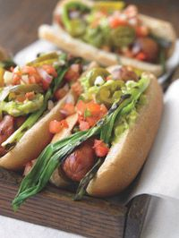 Mexican Hot Dogs http://recipes.prevention.com/Recipe/mexican-hot-dogs.aspx?cm_mmc=Recipe-of-the-Day-_-992082-_-07312012-_-Veggie-Topped-Hot-Dogs-Hed