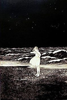 Ida Rentoul Outhwaite 1888-1960  -  The strange beauty of Mars and the prison wall
