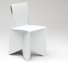 Origami Style: Paper-Thin, Patio-Ready White Folding Chairs-by designer Stefan Schoenig