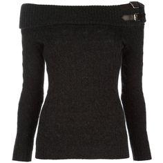 35. Ralph Lauren Black Label Shawl collar jumper ---------------------------- Key: Tops, Black, Clothes
