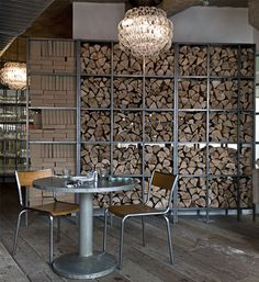 firewood partition wall