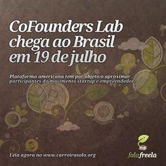 A CoFoundersLab chega ao Brasil no próximo dia 19 de julho, em parceria com a Aceleratech. ~> http://ads.tt/7GCS    A plataforma americana tem por objetivo aproximar os participantes do movimento startup e empreendedor.     Parceiros, mentores, equipe podem trocar ideias e encontrar interesses comuns e, quem sabe, o grande pitch de suas vidas.