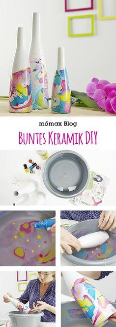 Buntes Keramik einfach selber machen mit Nagellack! DIY, Nail polish
