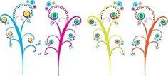 vetores arabescos coloridos                                                                                                                                                                                 Mais