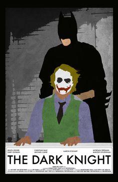 The Dark Knight 11 x 17 Movie Poster by Printwolf on Etsy, $17.00