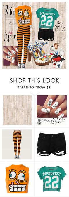 """""""print me"""" by followerr ❤ liked on Polyvore featuring Boohoo, Jeremy Scott, !M?ERFECT, Dolce&Gabbana and H&M"""