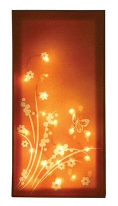 Butterfly light canvas