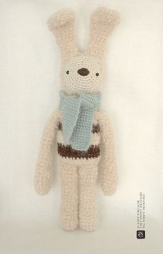 Etsy の The Striped Bunny by eveluche