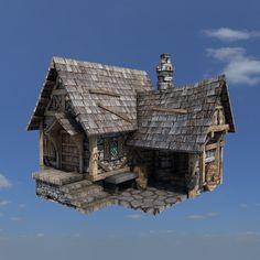 3dsmax medieval house buildings