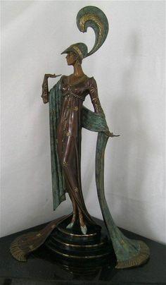 DIRECTOIRE Bronze Sculpture by Erte....