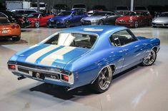 70 Chevrolet Chevelle SS Mulsanne Blue Metallic COUPE FULL RESTO 454 V8 white interior