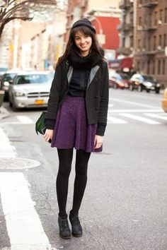 Teen Vogue online editor, Naomi Nevitt, always takes the skirt game to the next level.     Photographed by Mark Iantosca