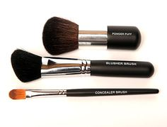 Save 10% when you buy the set! This set includes three professional quality brushes, each with a special purpose, that are perfect for applying and blending your mineral-based powders.Made of luxuriously soft capra animal hair, All Younique makeup brushes have an inner high-quality copper ferrule which means they won't rust when you use them wet or dry, are made to last a lifetime, and are cruelty-free