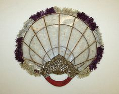 Fan  Date: 1800–1943  Culture: Burmese  Medium: silk, paper, mica  Accession Number: C.I.43.12.82 | The Met