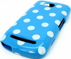 $11.99 free shipping USA CoolPad Quattro 4G 5860E Baby Blue White Polka Dot Hard Cover Case - http://www.cellcasesusa.com/ code PINTEREST1 for 15% off
