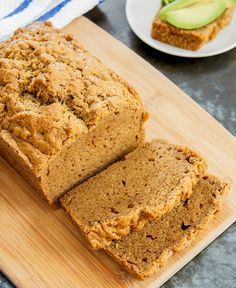 flourless-peanut-butter-sandwich-bread-13a - if you omit the white sugar - stevia or honey for paleo or  sub for lo carb later phases only