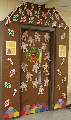 Gingerbread House around Classroom Door by squigglybee, via Flickr