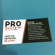 Colaboradora de la revista PRO Monterrey, Be a PRO Join the Network
