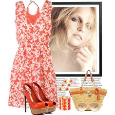 Coral Beauty., created by irishrose1 on Polyvore