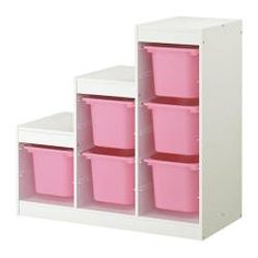 IKEA - TROFAST, Storage combination, , A playful and sturdy storage series for storing and organising toys, sitting, playing and relaxing.The frame comes with guide rails, so you can place boxes and shelves where you want them – and change them any time.Low storage makes it easier for children to reach and organise their things.
