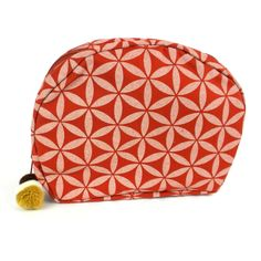 Flower of Life Cosmetic Bag Terra Cotta/Cream - Global Groove (P)