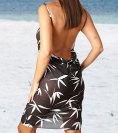 00d91e2823 Beach Essentials The Saress Ultimate Beach Dress-Galaxy at SwimOutlet.com