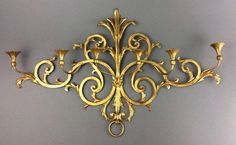 Palladio Large Vintage Hollywood Regency Gilt Metal & Wood Italian Wall Sconce  in Antiques, Architectural & Garden, Chandeliers, Fixtures, Sconces | eBay
