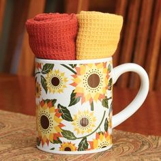 Harvest Flower Mug Gift Set....fun and a great gift!