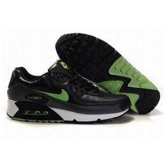 quality design 9d231 01d1a best price pas cher hommes nike air max 90 noir blanc vert air max homme  nike
