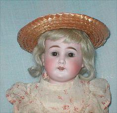 "20"" Cuno & Otto Dressel Bisque Turned Shoulderhead Doll w/ Original Dress"