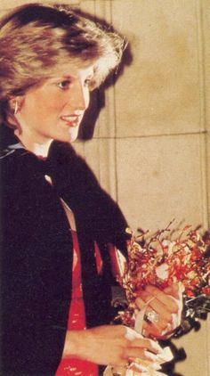1982 03 14 Charles & Princess Diana attended a performance of the  'Berlioz Requiem at the Royal Albert Hall, in London