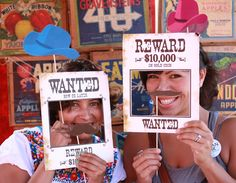 Wild West Printable PHOTO BOOTH PROPS Customizable - printable download pdf. $9.95, via Etsy.