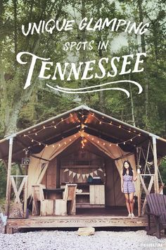 If you're curious about camping but not ready to give up your Wi-Fi, glamping could be for you. These charming cabins, luxury treehouses and retro campers are just a few ways to enjoy nature in Tennessee without sacrificing the comforts of home. Vacation Places, Vacation Destinations, Vacation Trips, Vacation Spots, Places To Travel, Places To Go, Weekend Trips, Weekend Getaways, Romantic Vacations