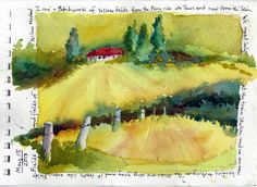 From my Watercolor journal,  Painting in Provence Workshop ~ Jacqueline Newbold
