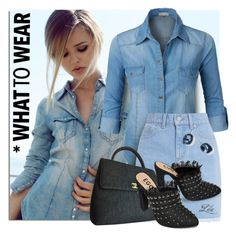 """""""All Denim, Head to Toe"""" by breathing-style ❤ liked on Polyvore featuring LE3NO and Chanel"""