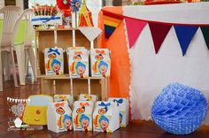 PLIM PLIM. Estallido de color Birthday Party Ideas | Photo 2 of 45 Circus Birthday, Birthday Parties, Noah, Baby Shark, Party Themes, Party Ideas, Churro, Ideas, Guys Birthday Parties