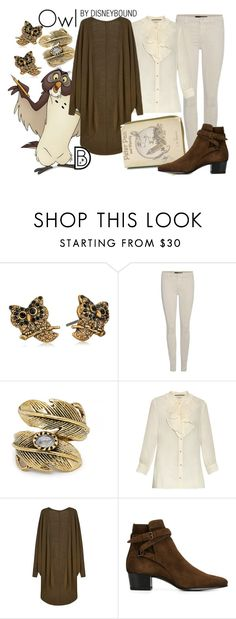 """""""Owl"""" by leslieakay ❤ liked on Polyvore featuring Marc Jacobs, J Brand, Natalie B, Gucci, Yves Saint Laurent, disney, disneybound and disneycharacter"""