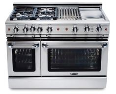 I...need...this...4 gas burners, grill, griddle, large & small oven, rotisserie, wok stand!!!