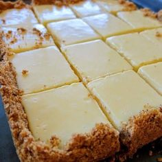 The lemon bars of your dreams take just 15 minutes of prep: Stir together a mere three ingredients to create a sunny, puckery filling for a buttery shortbread crust. TIPS: Prep Time. Lime Squares Recipes, Lemon Squares Recipe, Key Lime Squares, 13 Desserts, Lime Desserts, Summer Desserts, Ww Recipes, Cookie Recipes, Desert Recipes