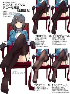How do legs in stocking look by its denier (via twitter: @ mozuya_m)