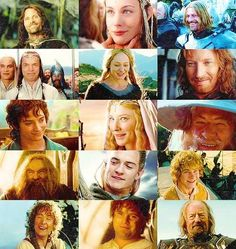 The smiles of LOTR. :)