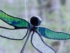 Dragonfly suncatcher spoon dragonfly by DesignsStainedGlass