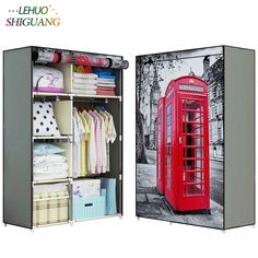 Wardrobes 3d Pattern Wardrobe Non-woven Folding Cloth Wardrobe Reinforcement Combination Small Closet Assembly Clothes Storage Cabinet Terrific Value