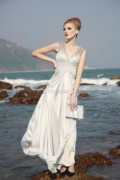 Natürliche Taile elastischer gewebter Satin ärmellos knöchellanges Abendkleid mit Falte Mieder